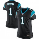 Women Nike Carolina Panthers &1 Cam Newton Elite Black Team Color NFL Jersey