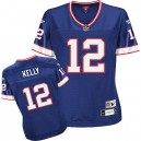 Reebok Buffalo Bills &12 Jim Kelly Royal Blue Women Throwback Team Color Replica NFL Jersey