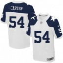 Men Nike Dallas Cowboys &54 Bruce Carter Elite White Throwback Alternate NFL Jersey