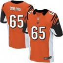 Men Nike Cincinnati Bengals &65 Clint Boling Elite Orange Alternate NFL Jersey