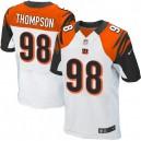 Men Nike Cincinnati Bengals &98 Brandon Thompson Elite White NFL Jersey