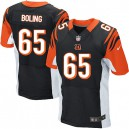Men Nike Cincinnati Bengals &65 Clint Boling Elite Black Team Color NFL Jersey