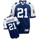 Reebok Dallas Cowboys &21 Deion Sanders Blue Thanksgiving Replica Throwback NFL Jersey
