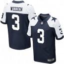 Men Nike Dallas Cowboys &3 Brandon Weeden Elite Navy Blue Throwback Alternate NFL Jersey