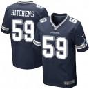 Men Nike Dallas Cowboys &59 Anthony Hitchens Elite Navy Blue Team Color NFL Jersey