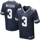 Men Nike Dallas Cowboys &3 Brandon Weeden Elite Navy Blue Team Color NFL Jersey