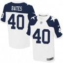 Men Nike Dallas Cowboys &40 Bill Bates Elite White Throwback Alternate NFL Jersey