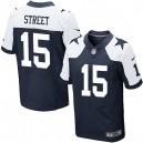 Men Nike Dallas Cowboys &15 Devin Street Elite Navy Blue Throwback Alternate NFL Jersey
