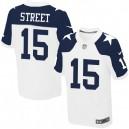 Men Nike Dallas Cowboys &15 Devin Street Elite White Throwback Alternate NFL Jersey