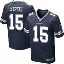 Men Nike Dallas Cowboys &15 Devin Street Elite Navy Blue Team Color NFL Jersey