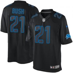 nike clubs de golf de la jeunesse set utilisés - Hommes Nike Detroit Lions # 21 Reggie Bush ��lite noir incidence ...