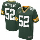 Men Nike Green Bay Packers &52 Clay Matthews Elite Green Team Color C Patch NFL Jersey