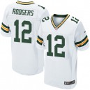 Men Nike Green Bay Packers &12 Aaron Rodgers Elite White NFL Jersey