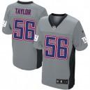 Men Nike New York Giants &56 Lawrence Taylor Elite Grey Shadow NFL Jersey