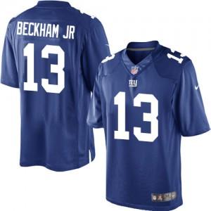 Jeunesse Nike New York Giants # 13 Odell Beckham Jr élite bleu Royal équipe NFL Maillot Magasin de couleur