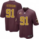 Youth Nike Washington Redskins &91 Ryan Kerrigan Elite Burgundy Red/Gold Number Alternate 80TH Anniversary C Patch NFL Jersey