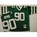 New York Jets 90 Byrd Throwback Green Jerseys Authentic
