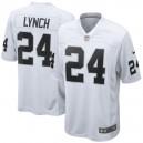 Hommes Oakland Raiders Marshawn Lynch Nike Blanc Jeu maillots