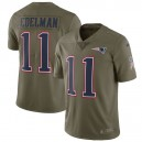 Hommes New England Patriots Julian Edelman Nike olive Salute to Service Limited maillots