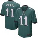 Hommes Philadelphia Eagles Carson Wentz Nike Vert Jeu maillots