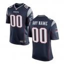 Hommes New England Patriots Nike Navy maillot de jeu personnalisé
