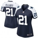 Femmes Dallas Cowboys Ezéchiel Elliott Nike Navy jeu alternatif maillots