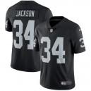 Hommes Oakland Raiders Bo Jackson Nike Noir Retraite Joueur vapeur intouchable Limited Maillot