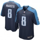 Hommes Tennessee Titans Marcus Mariota Nike Navy maillots de jeu