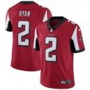 Hommes Atlanta Falcons Matt Ryan Nike Rouge Vapeur intouchable maillot Limitée Joueur