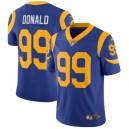 Hommes Los Angeles Rams Aaron Donald Nike Royal Vapeur intouchable Limitée Joueur maillot