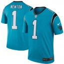 Hommes Carolina Panthers Cam Newton Nike Bleu Couleur Rush Légende maillots