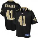 Enfants New Orleans Saints Alvin kamara NFL Pour Ligne Noir Team Couleur Joueur maillot