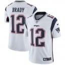 Hommes New England Patriots Tom Brady Nike Blanc Vapor intouchable maillot Limitée Joueur