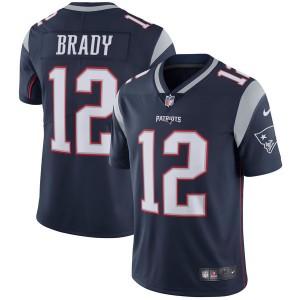 Hommes New England Patriots Tom Brady Nike Marine Vapor intouchable Limitée Joueur maillot