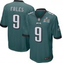 Hommes Philadelphia Eagles Nick Faulds Nike Green Super Bol IIL Lié Jeu maillots