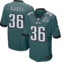Hommes Philadelphia Eagles Jay Ajayi Nike vert Super Bowl IIL Lié Jeu maillots