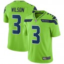 Hommes Seattle Seahawks Russell Wilson Nike Neon Green Vapor intouchable Color Rush Limited Player maillot
