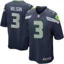 Hommes Seattle Seahawks sport Russell Wilson Nike College Navy maillots de jeu