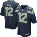 Hommes Seattle Seahawks fan 12 Nike College Navy maillot de jeu alternatif