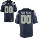 Homme Seattle Seahawks Nike Collège Marine maillot de jeu personnalisé