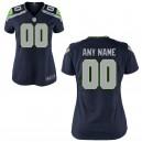 Femmes Seattle Seahawks Nike Collège Marine maillot de jeu personnalisé
