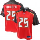 Hommes Tampa Bay Buccaneers Peyton Barber NFL Pro Line joueur rouge maillot