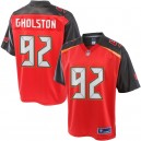 Hommes Tampa Bay Buccaneers William Gholston NFL Pro Line Rouge Grand & Tall équipe de couleur maillot