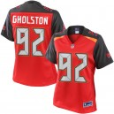 Femmes NFL Pro Line William Gholston Rouge Tampa Bay Buccaneer maillots