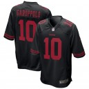 Hommes San Francisco 49ers Jimmy Garoppolo Nike Noir jeu alternatif maillots