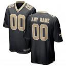 Men's New Orleans Saints Nike Black 2018 maillots de jeu personnalisés