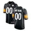 Hommes Pittsburgh Steelers Nike Noir maillot de jeu personnalisé