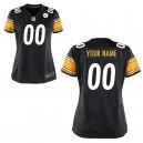 Femmes Pittsburgh Steelers Nike black maillot de jeu personnalisé
