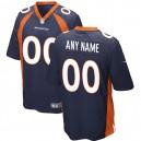 Mens Denver Broncos Nike Navy Bleu personnalisé maillot de jeu alternatif