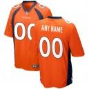 Hommes Denver Broncos Nike orange jeu personnalisé maillot